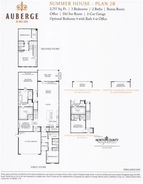 plans for a summer house auberge at del sur summer house floor plans north county
