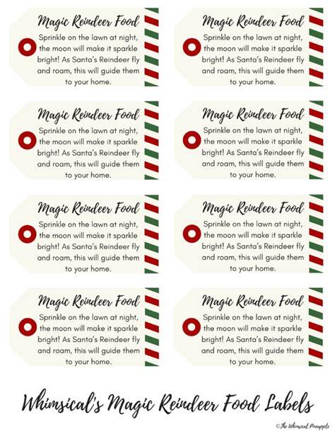 day  blogmas magic reindeer food  printable