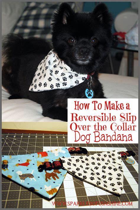 how to make a bandana how to make a reversible slip the collar bandana sparkles of