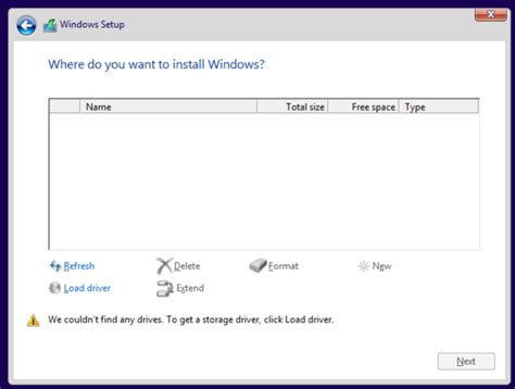 install windows 10 kvm virtualization why can t windows 10 see hdd image on kvm
