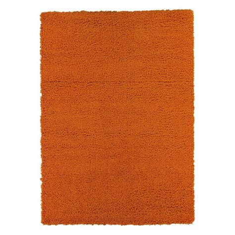 orange shag area rug lifestyle shaggy collection orange 5 ft 3 in x 7 ft shag area rug ls2761 5x7 the home depot