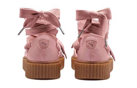 Rihanna Bow Crepers White rihanna x fenty bow creeper sandal pink fastsole co uk