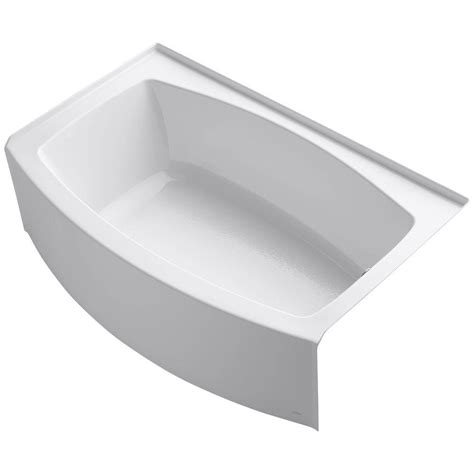 curved bathtub kohler expanse 5 ft acrylic right hand drain curved