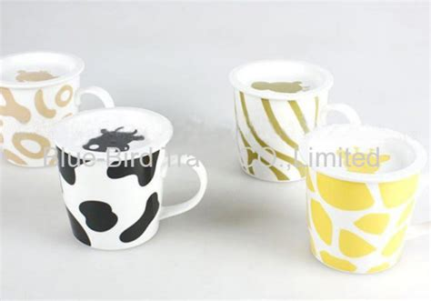 Printed Mug With Cover promotion ceramic mug with cover from china manufacturer