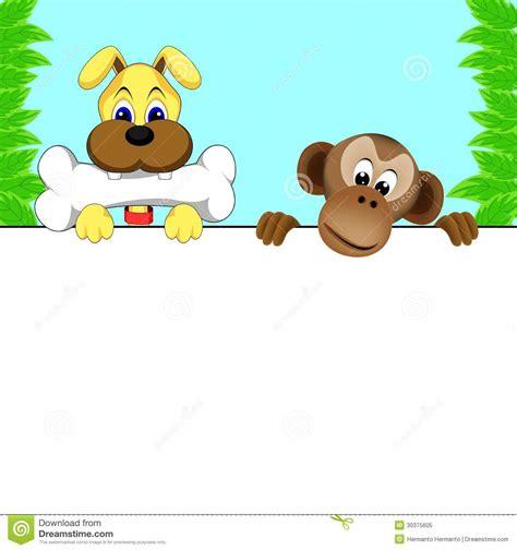 puppy and monkey and monkey royalty free stock photo image 30375605