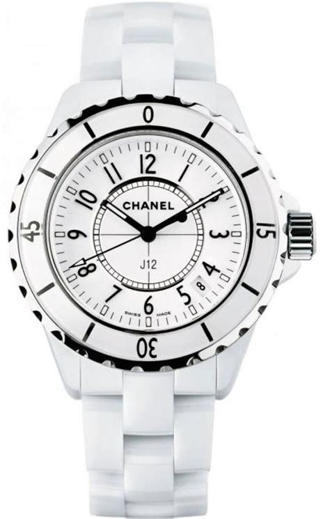Chanel J12 Silver White Ceramic h0968 j12 chanel ceramic 33mm white quartz