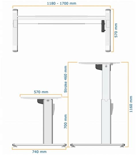 what is standard desk height standing desk frame zen e electric sit stand
