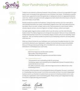 fundraiser letter from sybil bralley scentsy independent