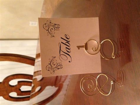 diy table number holders input wanted weddingbee