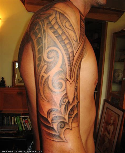 bbs tattoo amazing shadows on s sleeve tribal tattoomagz