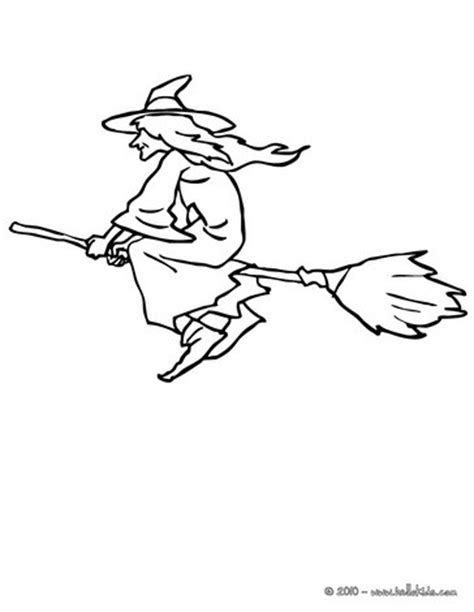 flying witch coloring page witch rides under the moonlight coloring pages hellokids com
