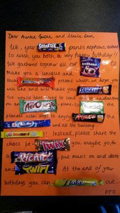 Birthday Card Made Out Bars 1000 Images About Chocolate Bar Cards On Pinterest