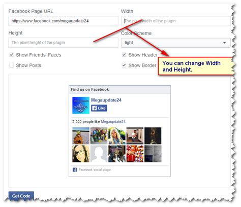 facebook fan page plugin how to add facebook page widget for website blogger blog