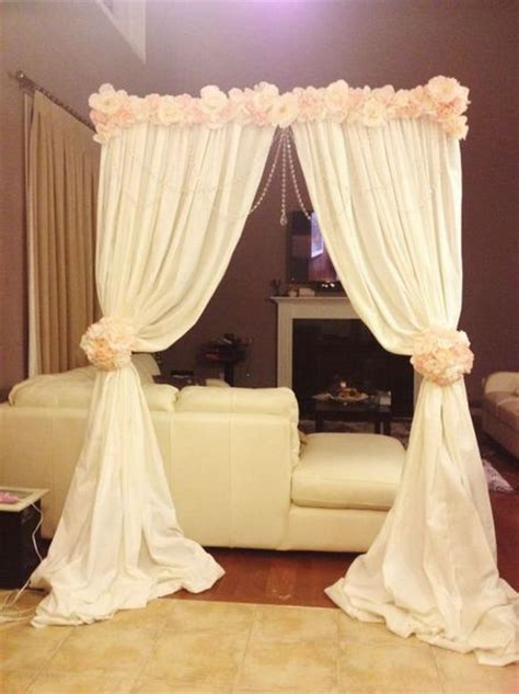 diy wedding altar decorations altar arch made with backdrop stand cheap fabric and