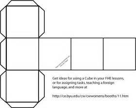 Cube pattern to make this is a blank box or cube pattern you can use