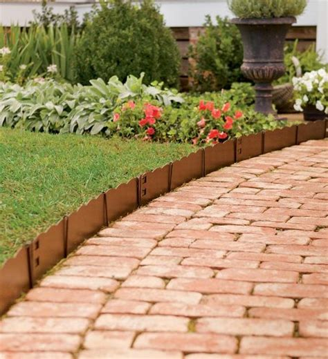 3 quot h bendable steel garden edging decorative fences