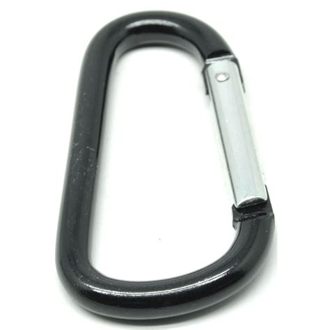 D Type Carabiner Buckle Hanging Aluminium d type carabiner buckle hanging aluminium 78mm 10kg black jakartanotebook