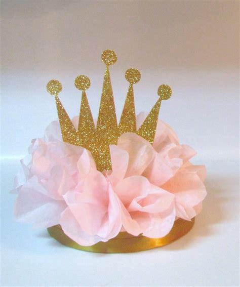 centerpieces for princess crown tiara glitter centerpiece pink royal princess birthday