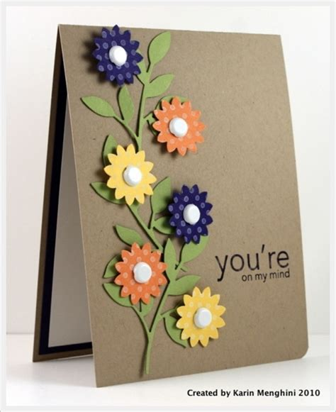 Simple Handmade Greeting Cards - 30 cool handmade card ideas for birthday and