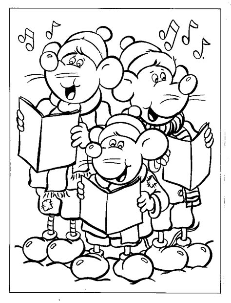 Holiday Music Coloring Pages | singing christmas songs coloring page gt gt disney coloring pages