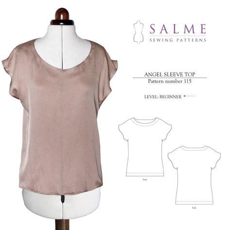 sleeve pattern on pinterest angel sleeve top beginner sewing pattern salme sewing