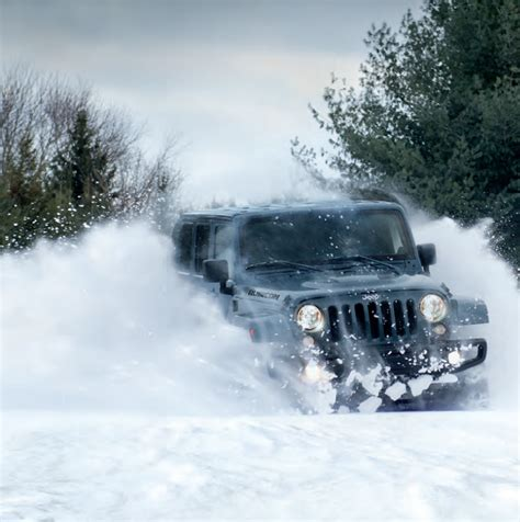 jeep wrangler in the winter driving jeep wrangler in winter