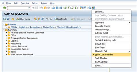 sap ui layout grid quick copy cut paste tip using sap ctrl y