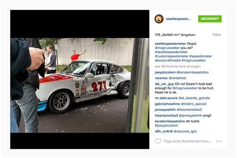 magnus walker crash magnus walker crash mit 71er porsche 911t porsche 911 1