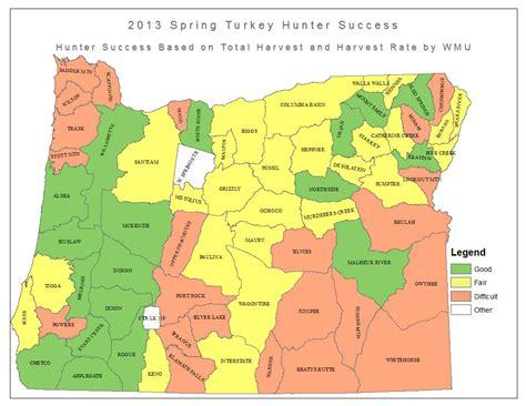 map of oregon units odfw turkey forecast