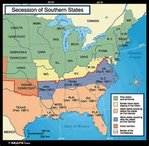 Map Of Southern States Of Usa by Firstsemesterexamreviewblockb Civil War