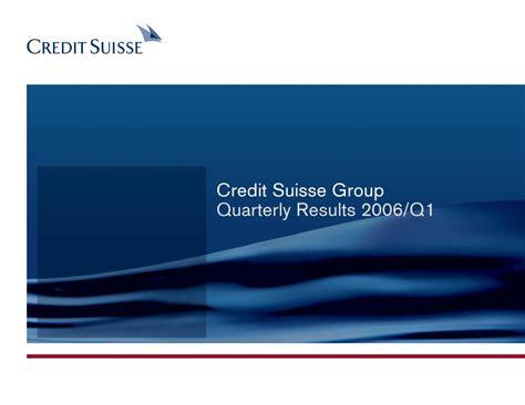Credit Suisse Formula 1 Credit Suisse Presentation Slides