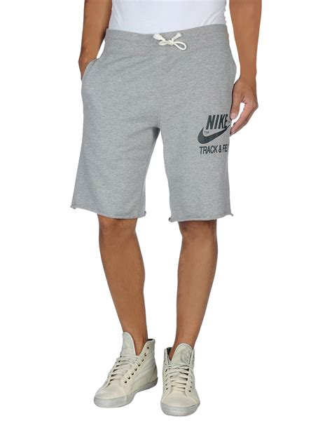 light grey nike sweatpants nike sweat shorts in gray for men light grey lyst