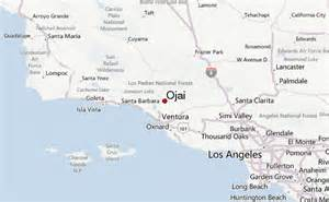 where is ojai california on a map ojai location guide