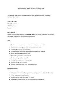 sle resume for coaching position sle cover letter for basketball coaching position 45