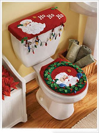peek a boo santa bucilla felt christmas bathroom ensemble