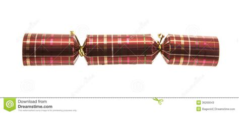 christmas cracker with tartan pattern stock photos image