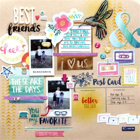scrapbook layout for friends best friends scrapbook layout scrapbook layouts