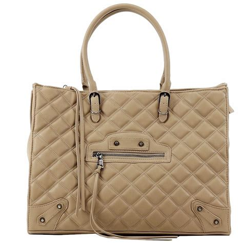 steve madden s bzinnia carryall quilted tote handbag ebay