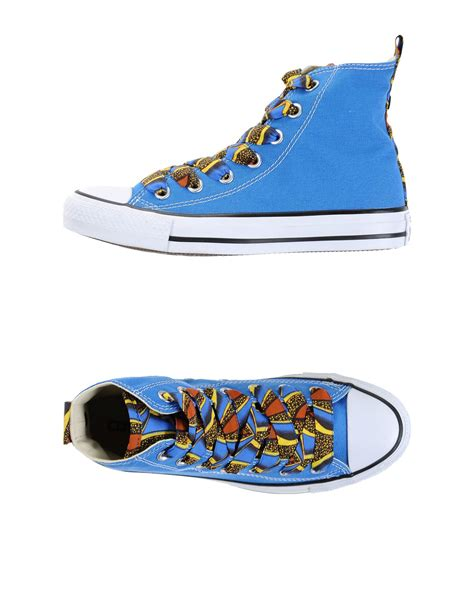 Converse Limited Edition Trainers For Product by Converse High Tops Trainers In Blue Lyst