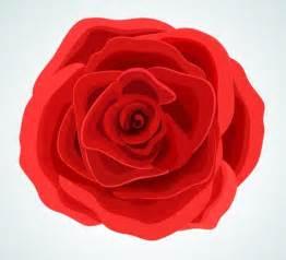 Free Red Rose Flower Vector Illustration   TitanUI