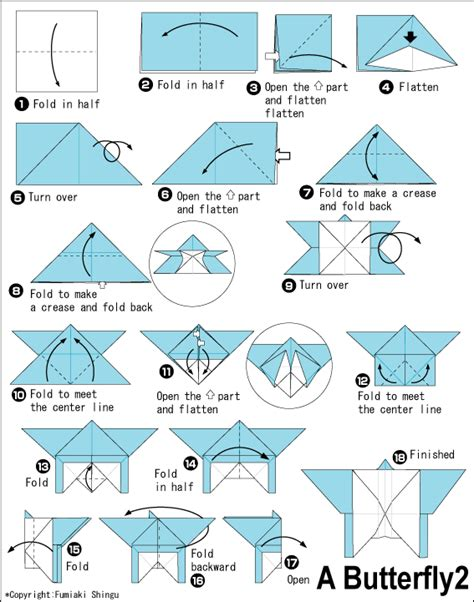 Origami Butterfly Diagram - origami butterfly paper parade origami