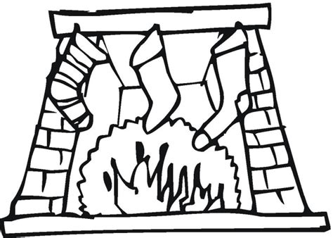 coloring page christmas fireplace free coloring pages of fireplaces