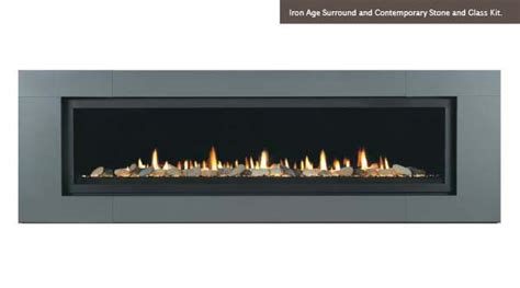 linear aura 70 quot direct vent gas linear fireplace