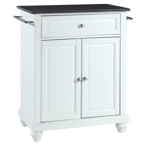 cambridge solid black granite top portable kitchen island