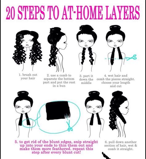 how to layer hair step by step musely