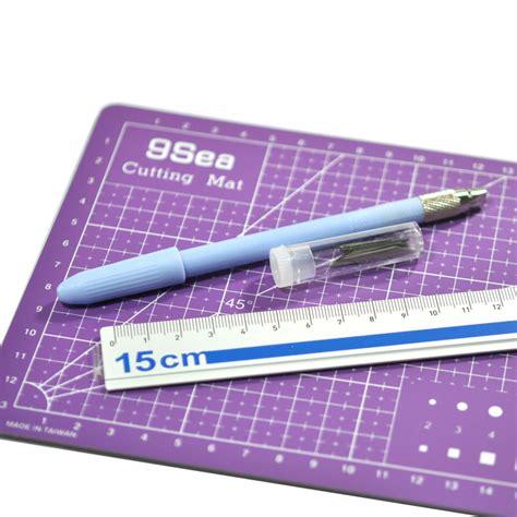 gjqg08 carving craft knife cutting mat aluminum ruler tool