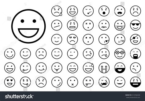 how to do smiley on doodle fit set of different smiley icons stock vector 514766428
