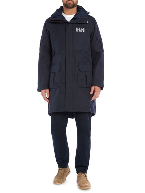 Hh Marmar Navy Fit L helly hansen hydropower rigging coat in blue for lyst