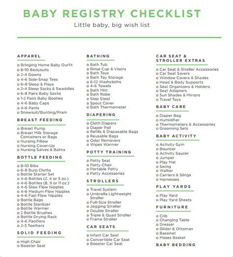 sle baby shower checklist baby shower registry checklist baby gift registry