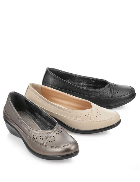 comfort plus shoes comfort plus ladies wide fit slip on shoe ladieswear